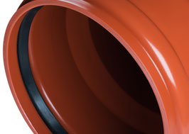PVC-U smooth compact sewer pipes in accordance with EN 1401-1 with a ring stiffness of SN4 and SN8