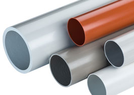 PVC-U pipes for industrial use