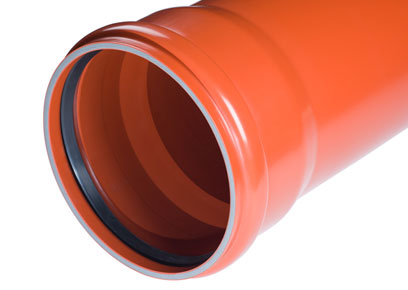 PVC-U smooth multilayer sewer pipes in accordance with EN 1401-1 and EN 13476-2 with a ring stiffness of SN12